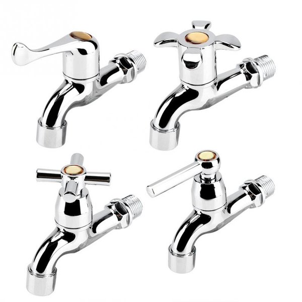 ABS Sink Basin Water Tap Washing Machine Faucet Single Spout Single Handle Bathroom Cold Tap