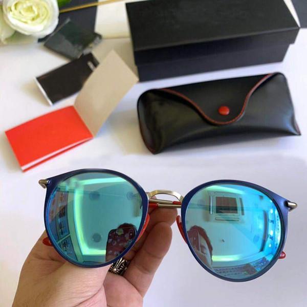 RayBan Ferrari Auténtico nuevo diseñador de la marca para hombre lentes claros gafas de sol retro marco cuadrado brillante oro moda gafas calidad superior Come With Case