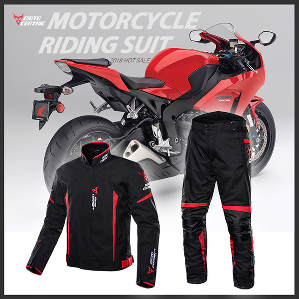 Men's motorcycle clothes Four seasons with waterproof racing suit to keep warm cycling jerseys outside jacket + Pants