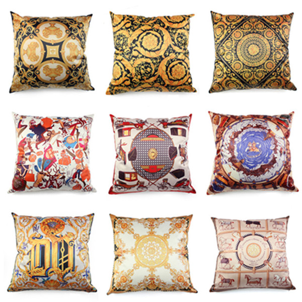 Nordic Royal Luxury High Precision Imitated Silk Tassels Cushion Cover for Hotel Decoration Vintage Sofa Bedding Pillow Cushion Cases