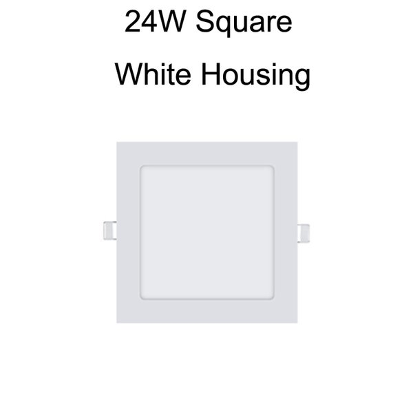 24W Square White Housing