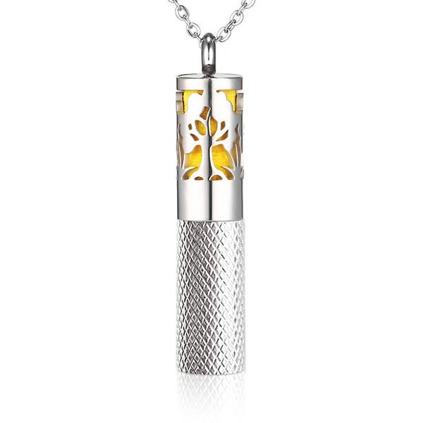 Collana di diffusore in acciaio inox con diffusore in aromaterapia