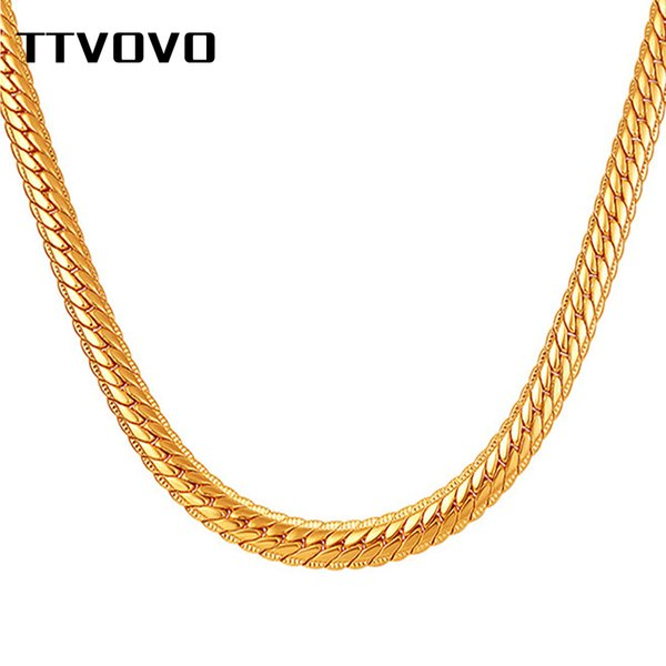 TTVOVO Necklaces for Men Miami Snake Cuban Link Gold Chain Hip Hop Jewelry Long Chains Thick Big Chunky Necklace 6MM 18-32Inches