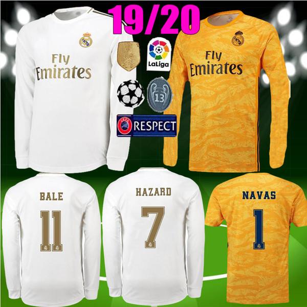 long sleeve 19 20 new Real madrid Soccer Jersey 2019 2020 MODRIC ISCO RAMOS Asensio Kroos BALE HAZARD Jersey Goalkeeper NAVA Football Shirts