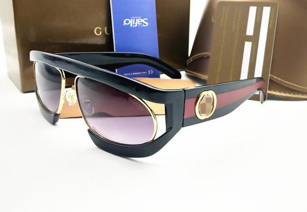 top popular European and American New Glasses Box Sunglasses for Women's Fashion Metal Versatile Sunglasses Supply 2019