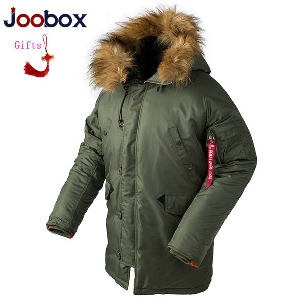 Luxury Winter N3B puffer jacket men Women long canada coat fur hood warm trench camouflage tactical bomber army parka