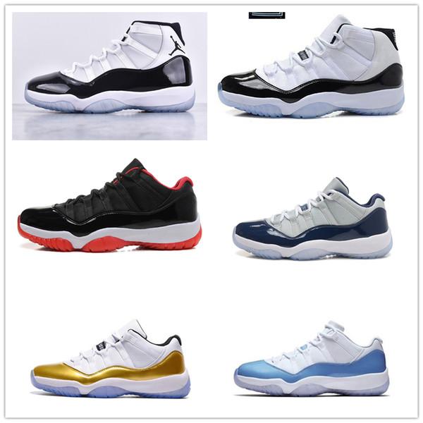 2019 11 Hombres 11s Zapatillas de baloncesto New Concord 45 Platinum Tint Space Jam Gym Red Win Like 96 XI Designer Sneakers Men Sport Shoes zz009