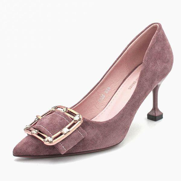 Розовый фиолетовый 7.5 каблук
