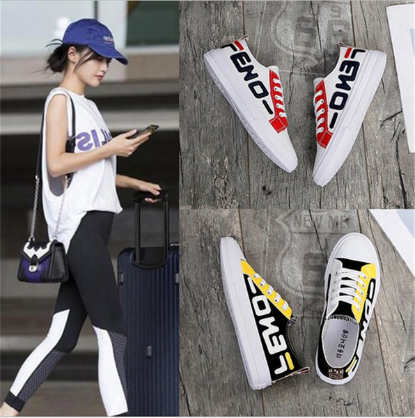 FF Brand Girls Canvas Shoes Diseñador de lujo Student Sports Gym Board Board Women Spring Autumn Tennis Tennis Cloth Shoes Casual Sneakers B73104