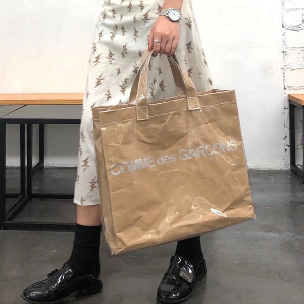 Bolsas de PVC transparentes para mujer Bolso de compras de papel Karft de gran capacidad Bolsos de lujo Bolsos de mujer Bolso de diseñador Sac A Main