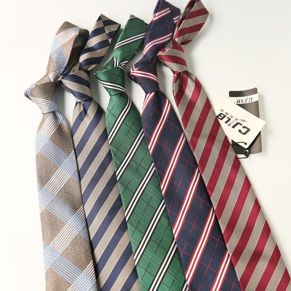 Directo de fábrica de los hombres de Nueva Inglaterra vestido de corbata de negocios 7 cm a cuadros a rayas corbata de trabajo ropa profesional masculina