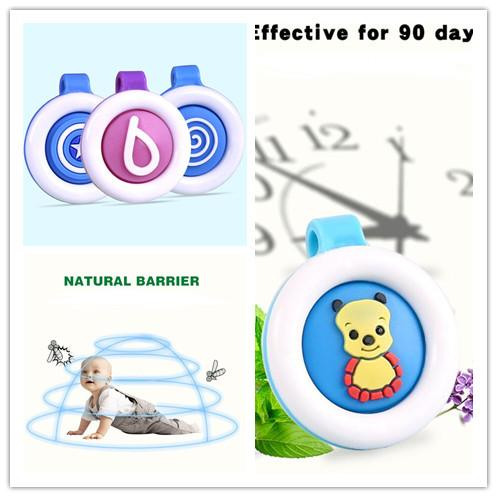 top popular Women Solid Mosquito Repellent Buckle insect clip Repellent Badge Anti-mosquito ColoRful baby Cute cartoon mosquito repellent Button E22402 2021