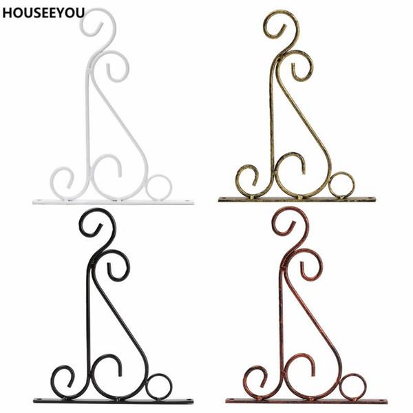 4 Colors Wrought Iron Art Hooks Hanging Plant Stand Flower Pot Hooks Holder Classic Romantic Landscaping Bathroom Garden
