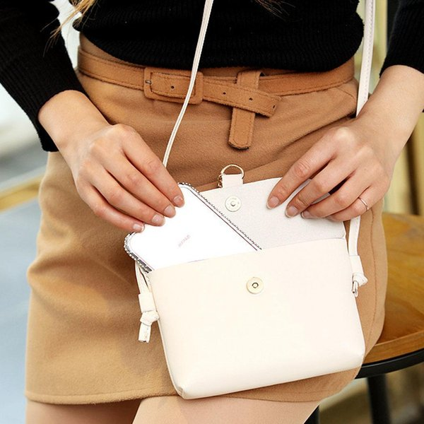Cheap Fashion Women Summer Fawn Pendant Mini Bag Shoulder Bag Casual Shopping Button Solid White Red Pink Black