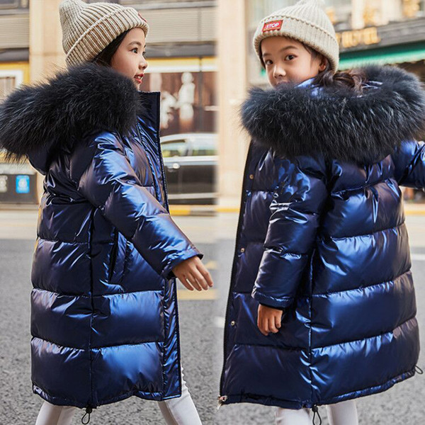 Erkekler 3-14 Yıl Aşağı ceketler Çocuk Su geçirmez Giyim Çocuk Kar Kapşonlu Kabanlar için 2019 Kış Kız Aşağı Isınma Ceket