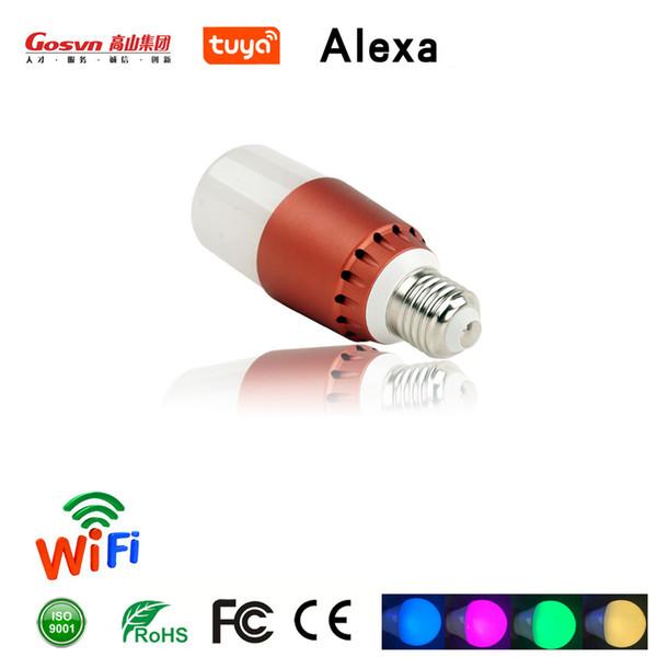 Luz inteligente 2.4GLED Sistema de control IFTVOICEWifi A19 bombilla LED regulable 12W Rgb + W 16 color E27 base control remoto