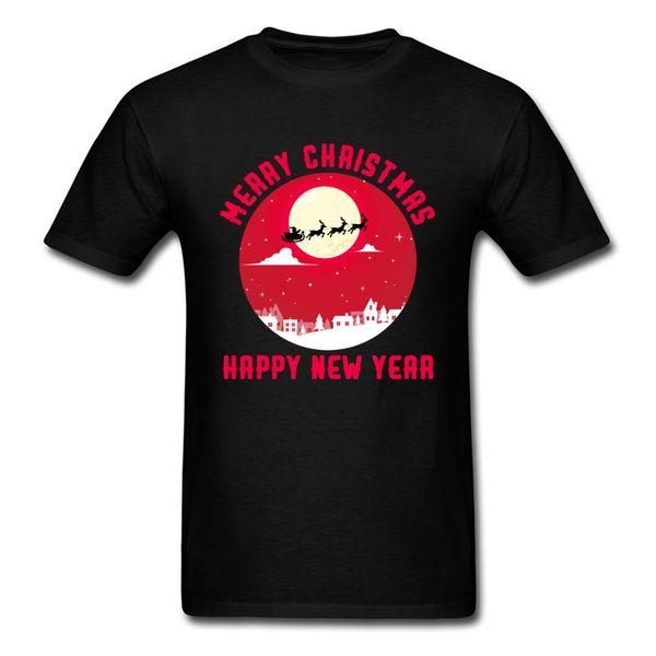 Feliz año nuevo camisetas para jóvenes hombre feliz navidad feliz camiseta de gran tamaño camisetas 3d impresión causal ropa camisa