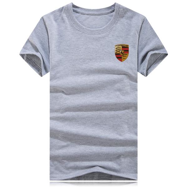 Marca de autos deportivos Diseñador de impresión 3d Camiseta Cuello redondo Camiseta de moda de verano Camiseta masculina Tops de algodón camiseta negra para hombres