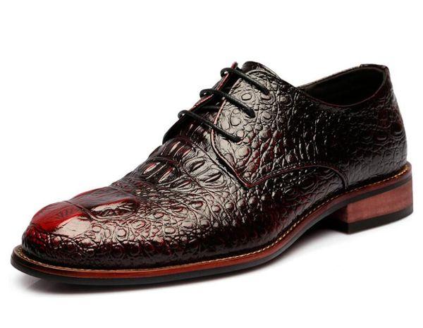 2019 Nova Moda Homens De Couro Sapatos Elegantes Qualit Designer De Luxo Mens De Couro Sapatos de Vestido Para Homens 1a14