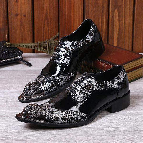 Luxus Italian Style Floral Brogue Oxford Schuhe Herren Hochzeit Schuhe Casual echtes Leder-Mann-Kleid-Schuhe EU-Größe