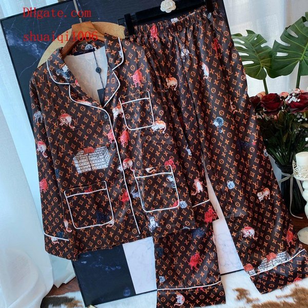 donne due pezzi abiti donna Tuta Abito stampato T-shirt manica lunga + Vita alta elastico Pantaloni larghi donna vestiti TS-13