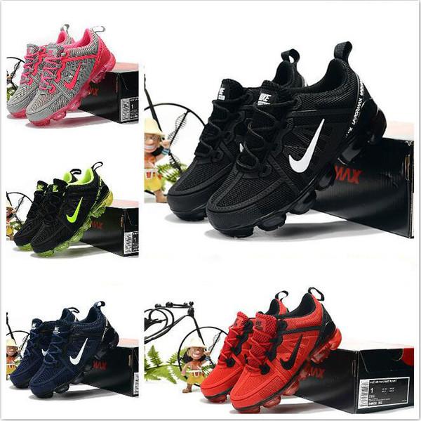 Acheter Nike Air Max Airmax Vapormax Nesw Air Cushion KPU Enfants Chaussures De Course Garçon Fille Jeune Enfant Sport Sneaker Taille 28 35 De $67.34