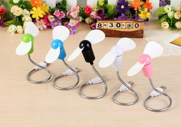 top popular Mini snake fan, silent soft leaf fan, notebook USB fan Free bending 2021
