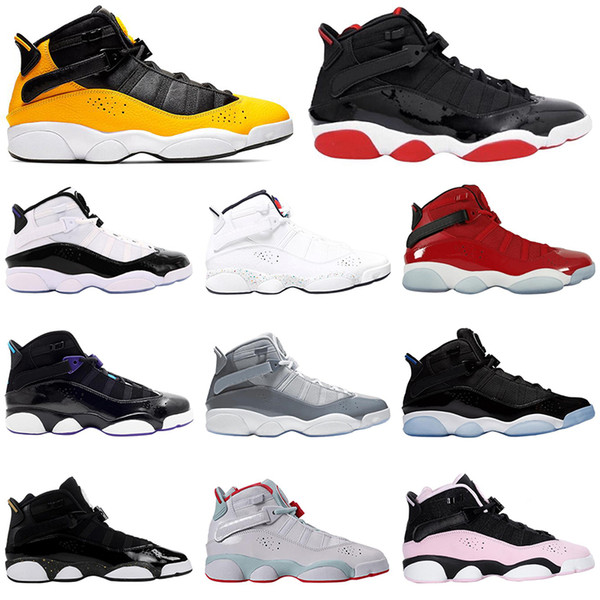 best website 05ad5 c2922 2019 2019 AirJordanRetro 6 Ring 6s Bred Men Basketball Shoes Taxi Concord  Space Jam Aqua Gym Red Mens Trainers Sports Sneakers From Sport_2018, ...