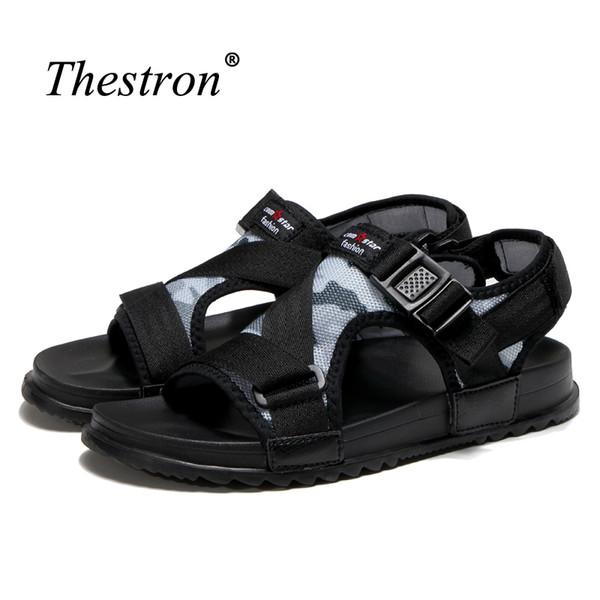 df606015f5e36 2018 Summer Men Sandals Comfortable Mens Mesh Sandals Breathable Beach  Shoes Men Lightweight Anti-Slip Flat For