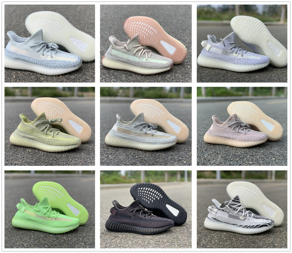 top popular high quality 350 v2 cloud white FW3042 350 V2 Citrin FW3042 Running Shoes Men Women Synth FV5666 size us5-us12 with box 2020