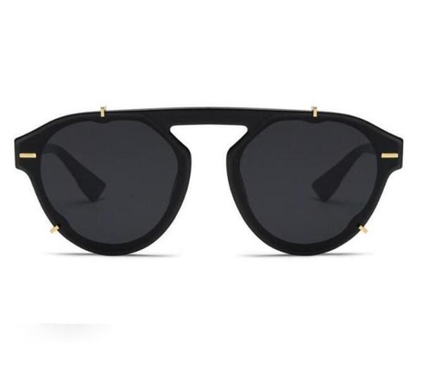 Yeni Moda Erkekler ve Kadınlar Güneş Gözlüğü En çok satan Vahşi Unisex Kişilik Güneş Gözlüğü Güneş Gözlüğü Sokak Çekim Radyasyon Sunglasse
