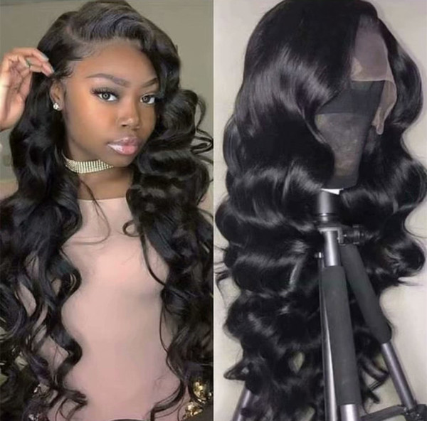 High Quality Virgin Human Hair Wig 150% Density Brazilian Full Lace Wigs Body Wave Lace Front Wig For Black Women With Baby Hair