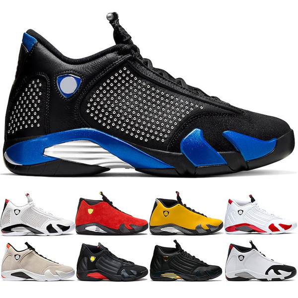 New Arrival 14 Men Basketball Shoes 14s Candy Cane Black White Yellow Red Desert Sand DMP Mens Trainer Sports Sneakers Size 41-47