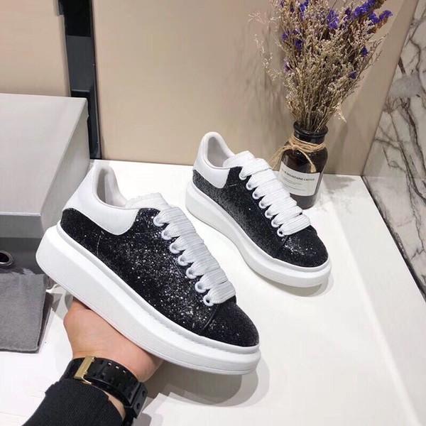 Créateur de mode Sneaker Homme Femme Casual Chaussures En Cuir Véritable Maille Pointe Toe Course Runner Chaussures À L'extérieur Des Formateurs 030139