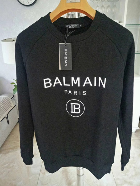 Balmain Mens off Designer Sweatshirt Männer Frauen Pullover Schwarz Langarm Pullover Marke Streetwear Fashion Sweatershirt
