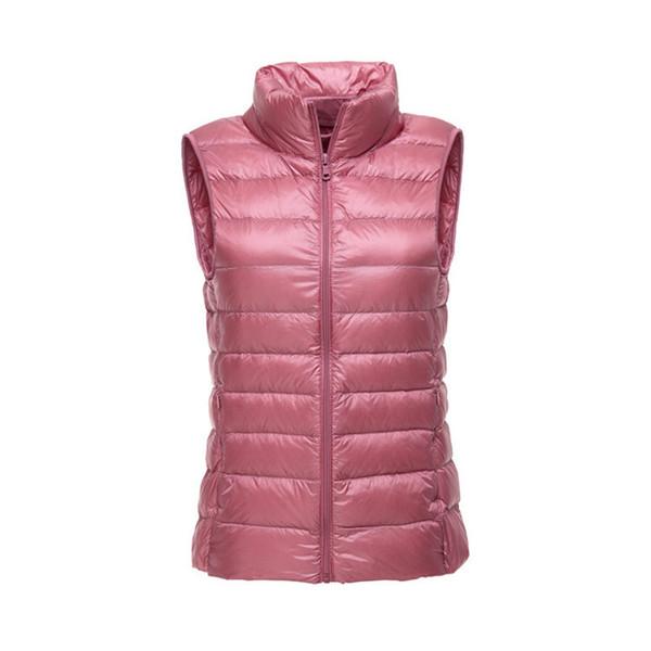 Women Vest Ultra Light Duck Down Jacket Women Winter Thin Sleeveless Down Coat Plus Size Spring Autumn Slim Short Jacket EV230
