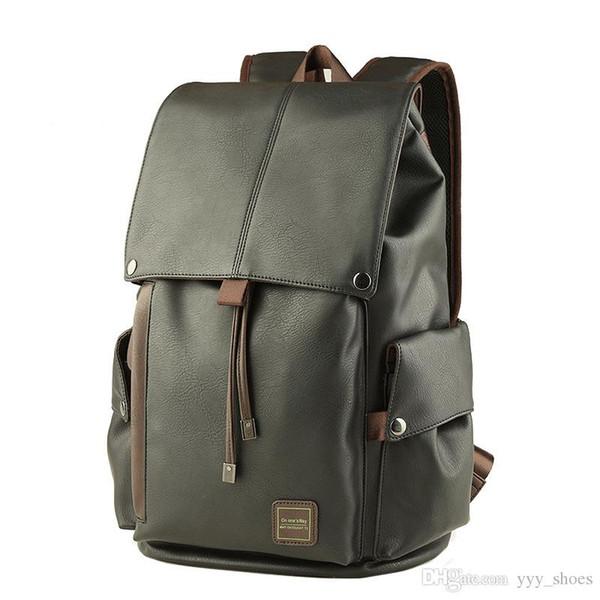 Designer de luxo Homens Mochila casual Alta-capacidade de couro PU mochila de qualidade superior Sacos à prova d 'água Laptop viajar sacos de escalada navio livre