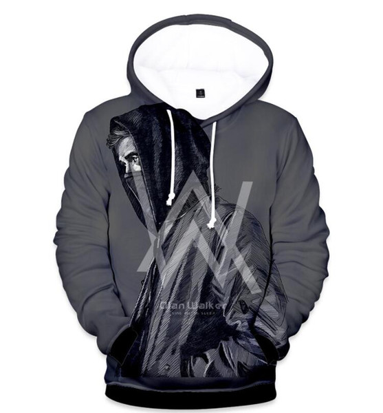 Autumn New Products Trends Tide Brand Alan Walker Around Allen Walker Starry Sky 3D Color Print Thin Hoodie