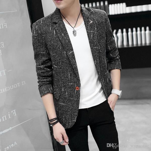 2019 modelli primavera scoppiare nuovo Slim giacca casual maschile piccolo rivestimento del vestito degli uomini