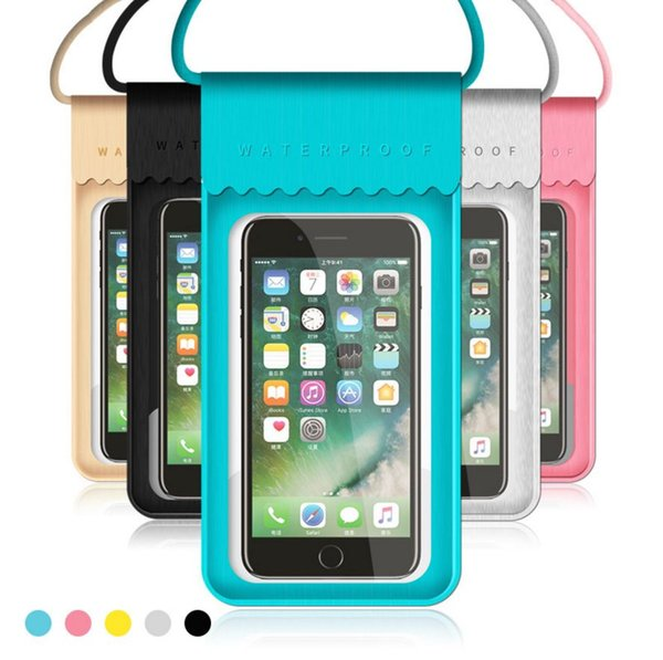 New PU Waterproof Mobile Phone Case For iPhone X 7 6 Samsung Clear PVC Sealed Underwater Cell Smart Phone Dry Pouch Cover