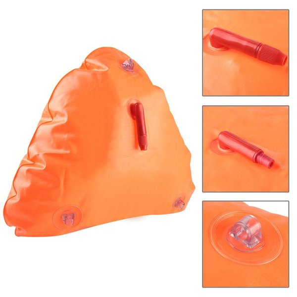 Kickboard gonflable de natation de flotteur de sécurité de la vie orange légère pour l'équipement de piscine de canoë-kayak