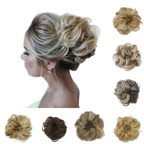 Synthetic Chignons Hair Scrunchies Extensions Hairpiece Wrap Ponytail Hair Tail Updo Fake Hair Bun Hairpiece Accessories