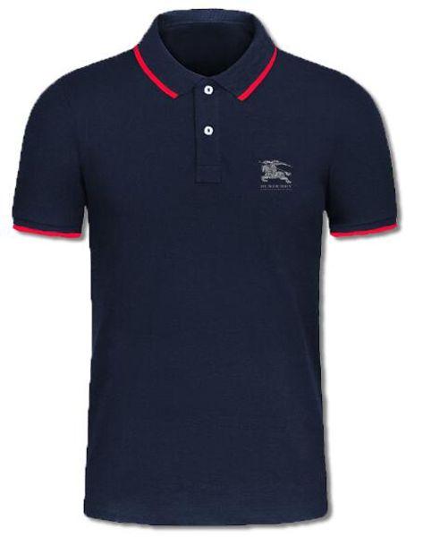 Summer designer luxury polo men's brand name clothing variegated lapel short sleeve T-shirt street wearing fashion fashion premium brand