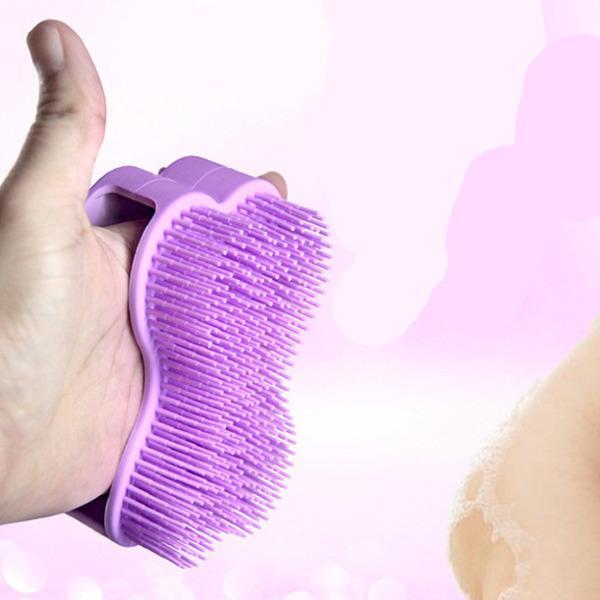 Soft Silicone Baby Bath Brush - Children Kids Body Massage Scrub Shower Washing Gloves Scrubber ( Mix Random Color)