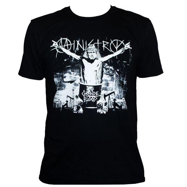 MINISTRY T SHIRT Industrial Metal Killing Joke NIN Band Graphic Printed TeeFunny free shipping Unisex Tshirt