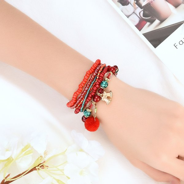 Christmas Style Resin Bracelet Stacked Wide Multilayer Stack Bracelet Jewelry Gift Handmade Bracelets Fashion Jewelry Gift