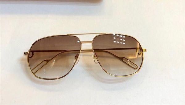New Luxury Designer lunettes de soleil 0111 hommes cadre métal conception pilote lunettes classique de style bonbons qualité supérieure de lunettes de lentilles de couleur avec étui