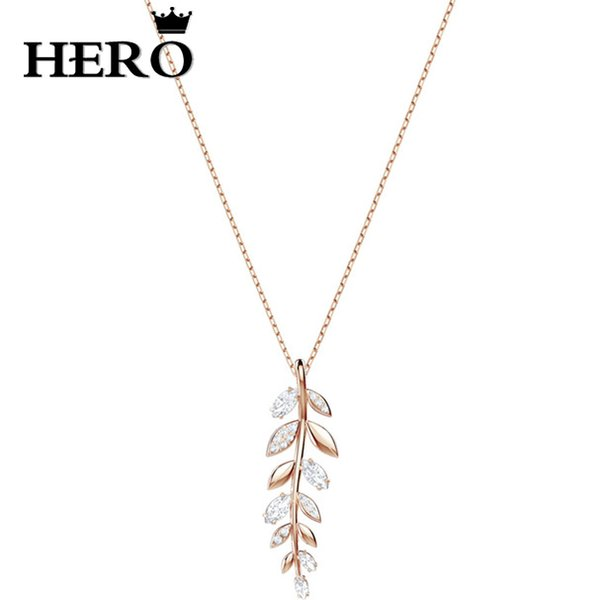HERO High Quality Original Copy 1:1SWA Rice Ear Necklace Logo Gift Preferred Free Package Manufacturers Wholesale