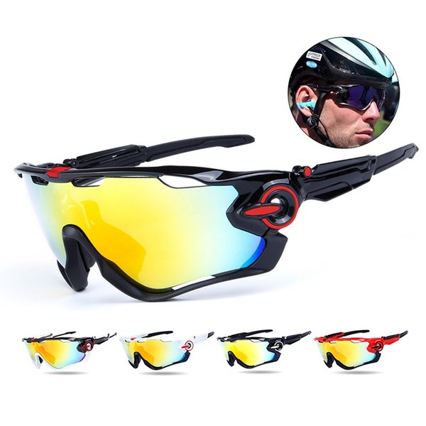 2018 Obaolay Sports Sunglasses 3 Lens Mountain Road Bicycle Goggles Unisex Cycling Sports Polarized Glasses Eyewear Equipment #110105