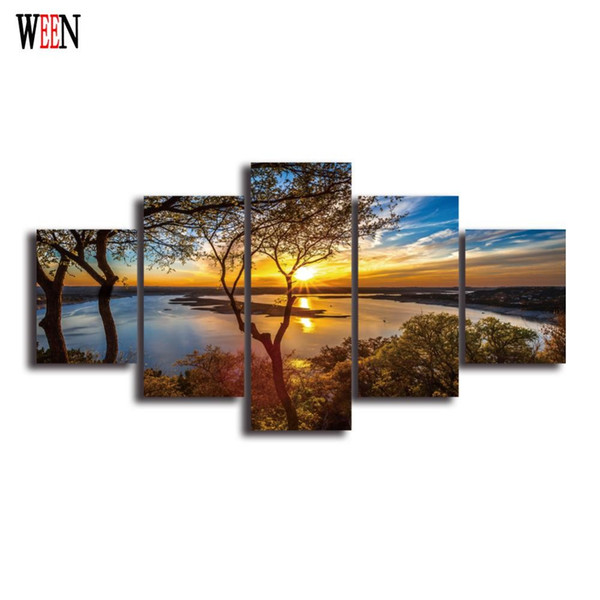 home decor catalogs home decor catalogs.htm hd landscape 5 panel wall art canvas painting printed framed  hd landscape 5 panel wall art canvas